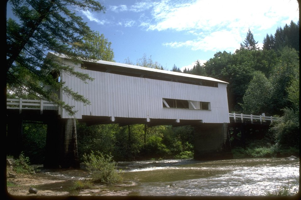 Wildcat Covered Bridge on the Siuslaw River.