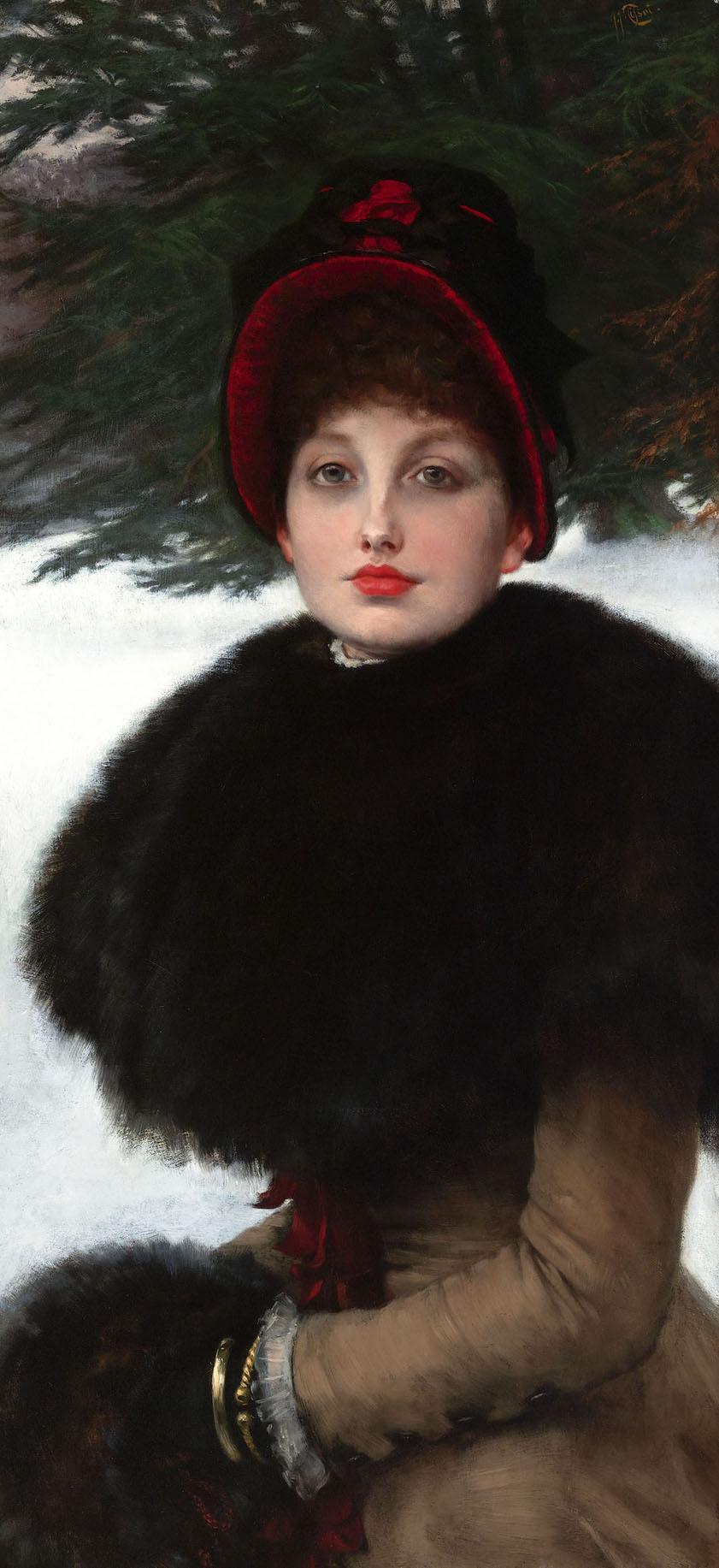 A Winter's Walk (Promenade dans la neige) by James-Jacques-Joseph Tissot.jpg