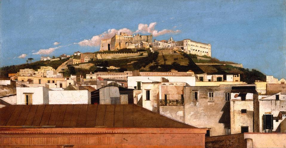 A View of Certosa di San Martino with the Castel Sant' Elmo, Naples by Thomas Jones.jpg