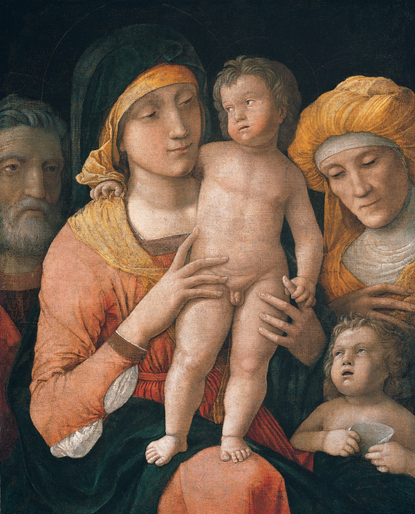 'The Madonna and Child with Saints Joseph, Elizabeth, and John the Baptist', by Andrea Mantegna.jpg