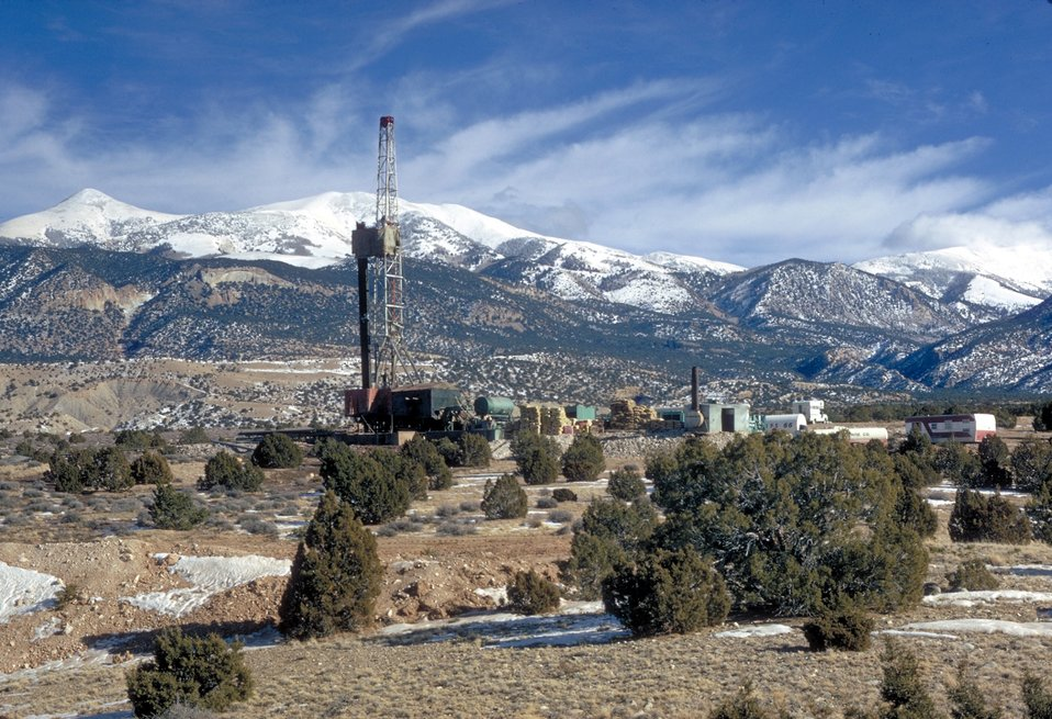 Drilling for coal bed methane near Price, Utah.