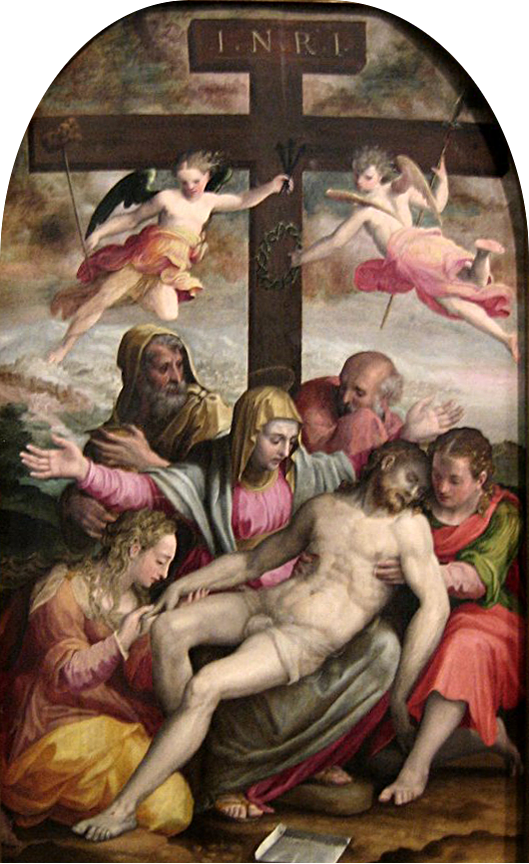 'The Deposition', oil on poplar panel by Prospero Fontana, 1563, Art Gallery of New South Wales.png