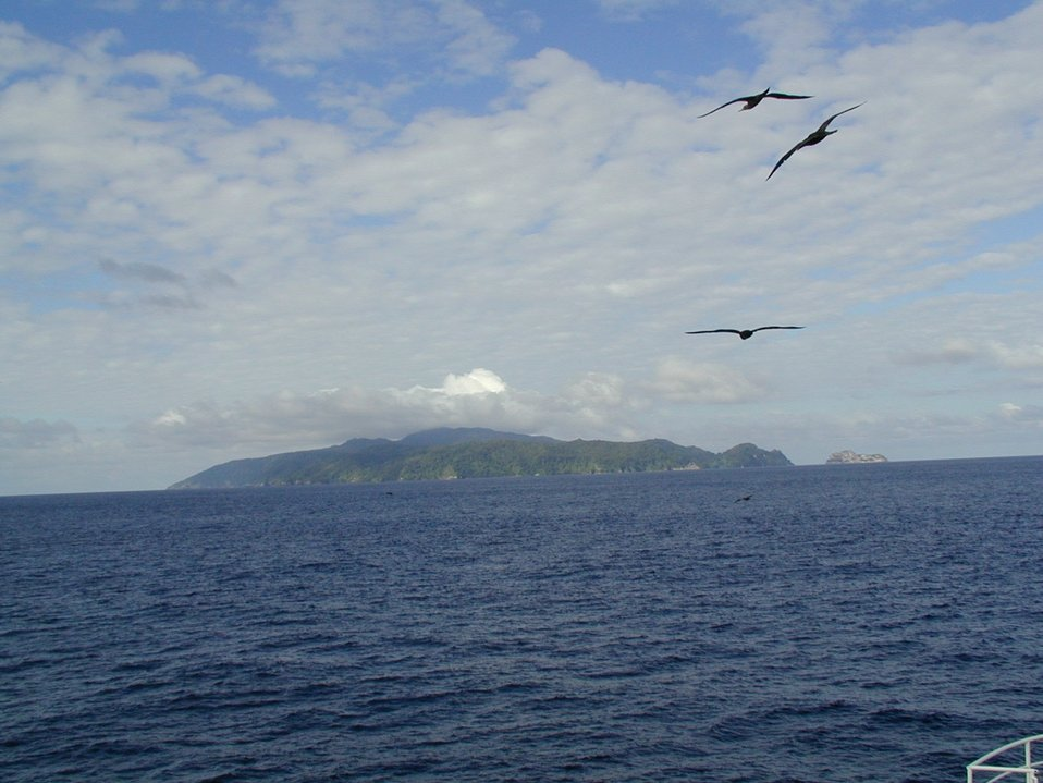 Isla Cocos as seen from the NOAA Ship McARTHUR during STAR 2000 project.