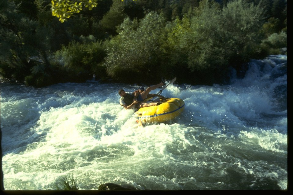 Whitewater rafting at Nugget Falls on the Rogue River.
