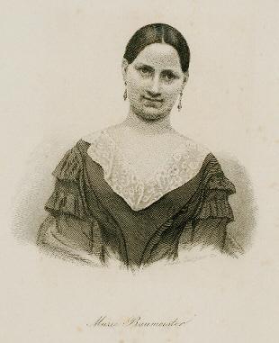 German actress Marie Baumeister (1819-1887)