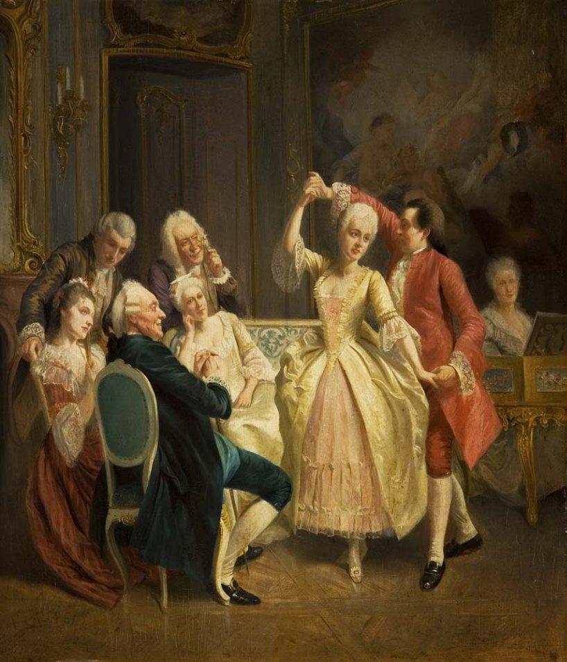 Rococo dance scene
