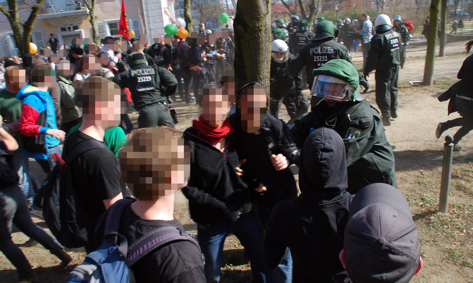 Proteste gegen den Nazi-Aufmarsch am 24.3.2012 in Frankfurt (Oder)