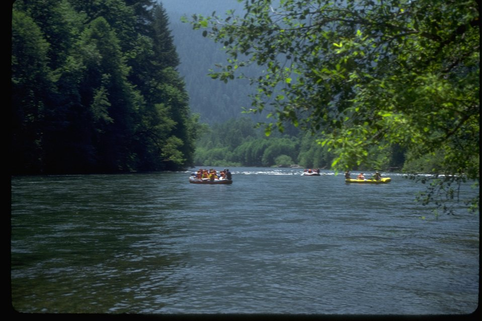 Rafting on the McKenzie River.