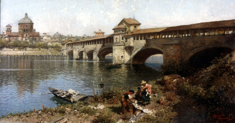 Artgate Fondazione Cariplo - Pellegrini Riccardo, Il ponte medievale sul Ticino a Pavia.jpg