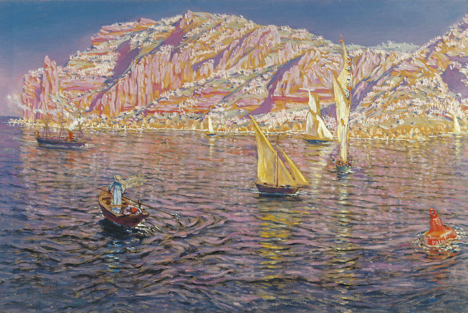 Seascape View of Palma de Mallorca. Oil on canvas, 89 x 133.5 cm, Inv. CTB.1996.53    Museo Carmen Thyssen          Native name Museo Carmen Thyssen   Location Málaga, Spain    Coordinates 36° 43′ 17″ N, 4° 25′ 22″ W        Established