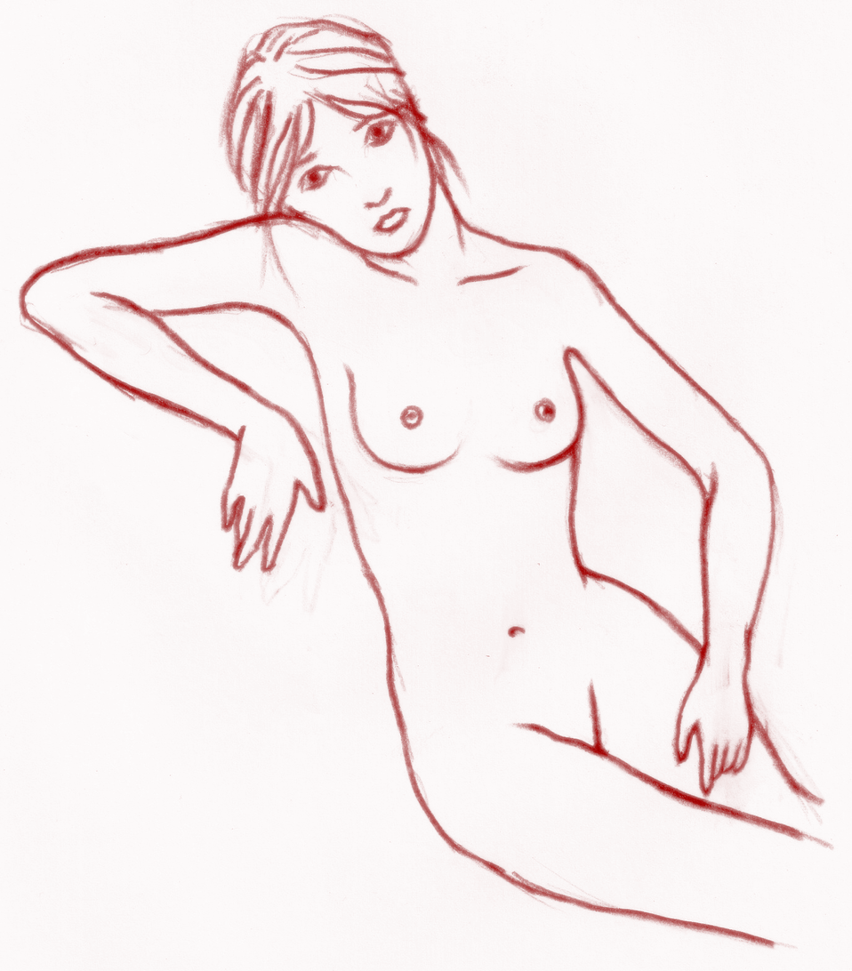 Sketch of a nude
