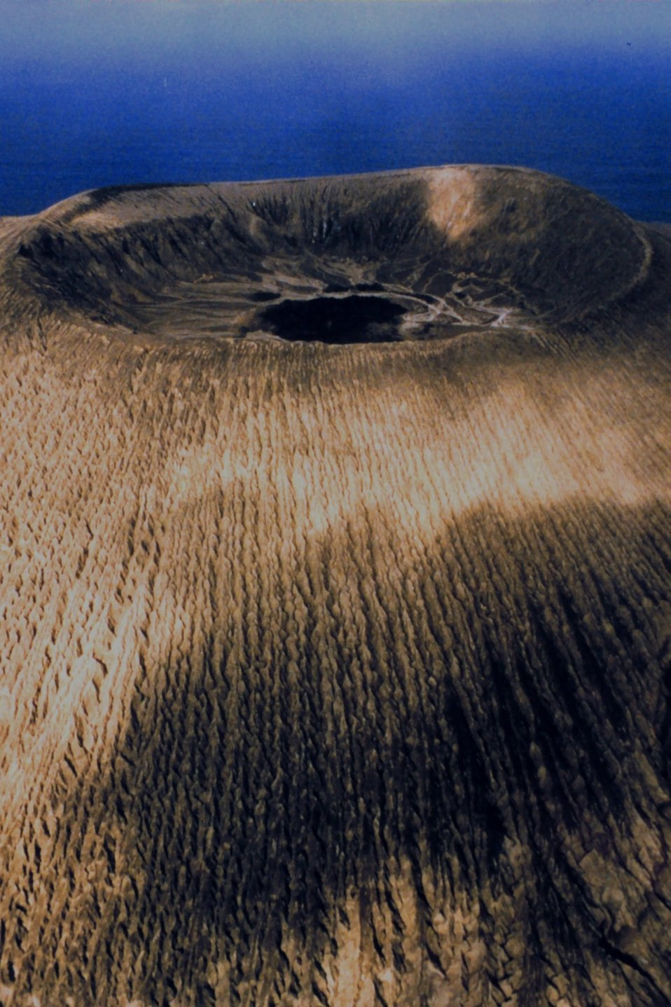The volcano crater at San Benedicto Island.