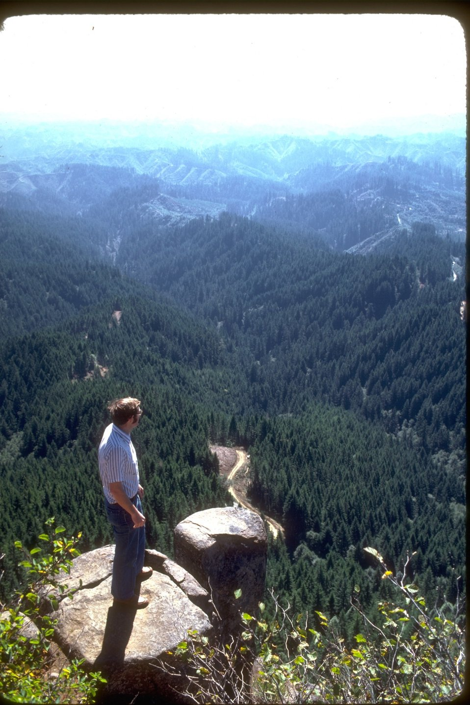 Hiker at Eagles Rest View.