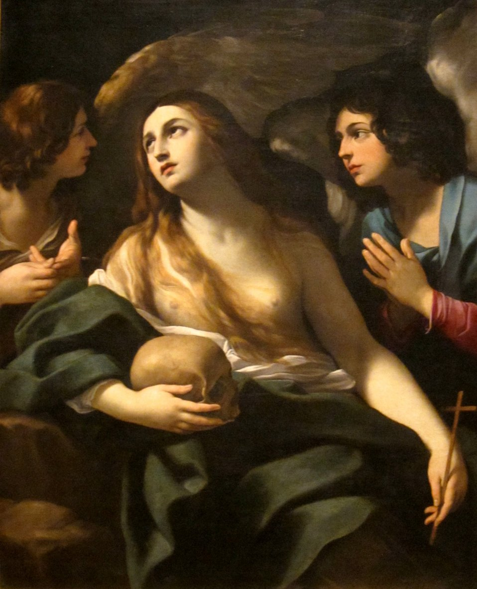 'Mary Magdalen between Two Angles', circle of Guido Reni, Dayton Art Institute.JPG