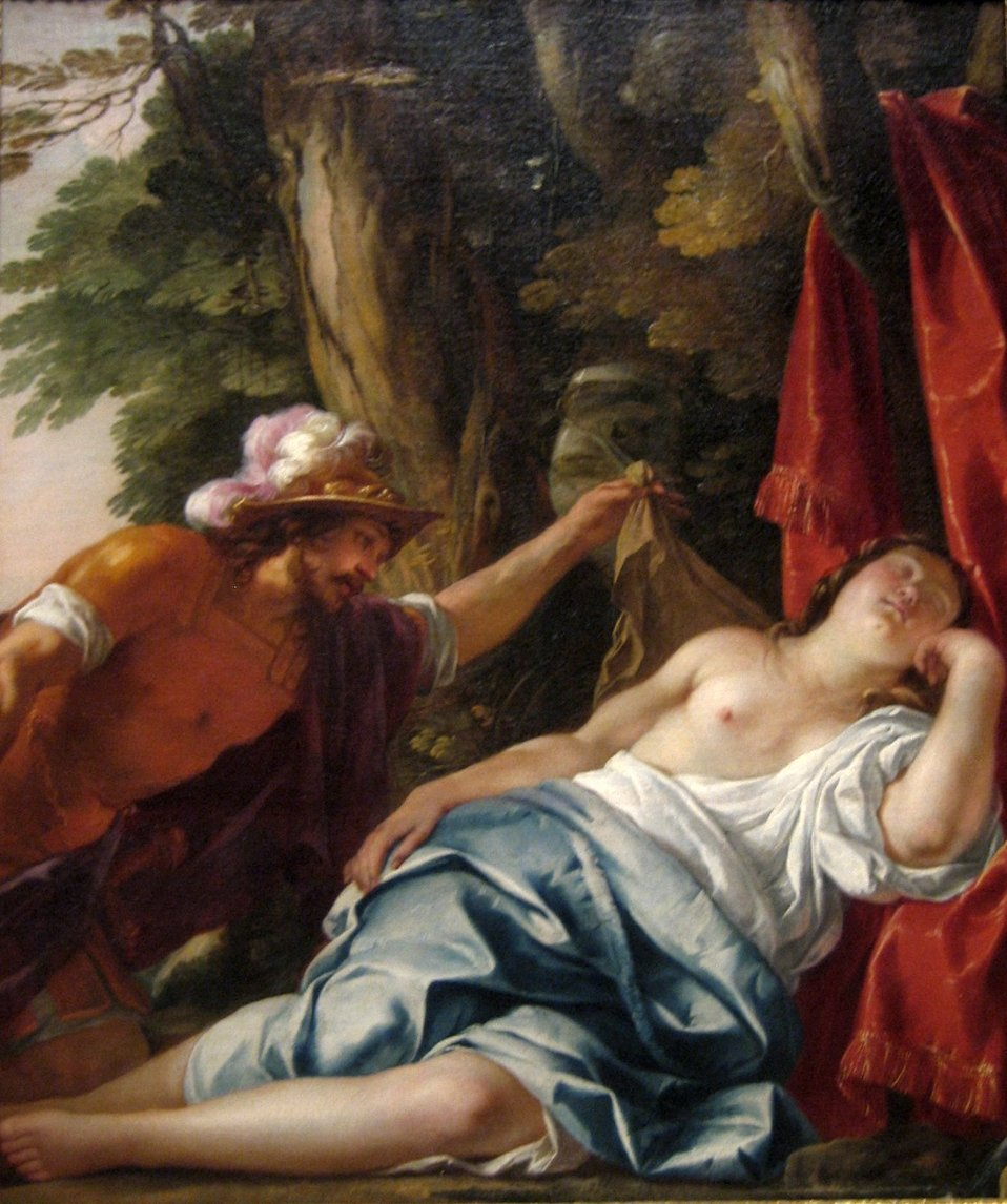 'Mars and the Vestal Virgin', oil on canvas painting by Jacques Blanchard, ca. 1630, Art Gallery of New South Wales.jpg