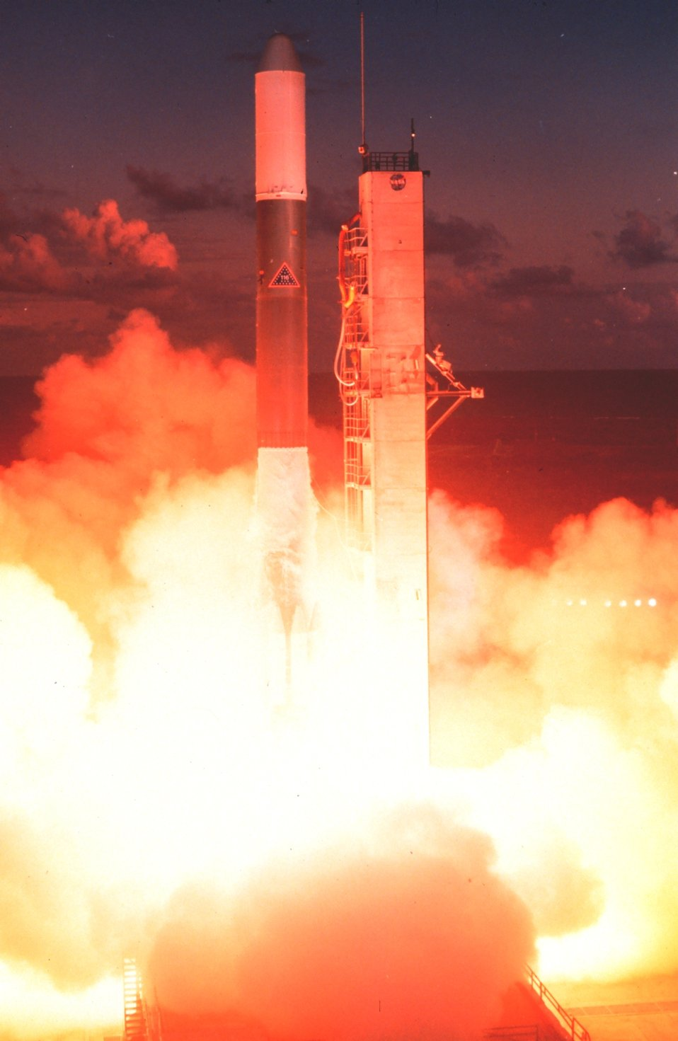 The launch of GOES-A, designated GOES 1 upon becoming operational.