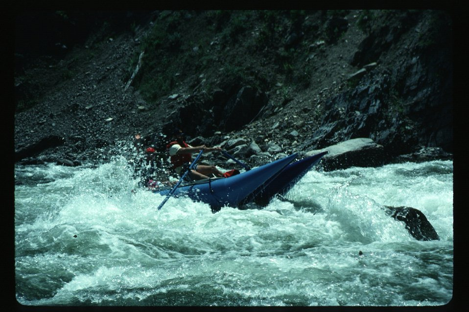 Kayaker in white water  Kayaking  Four Rivers Field Office  LSRD  Lower Snake River District
