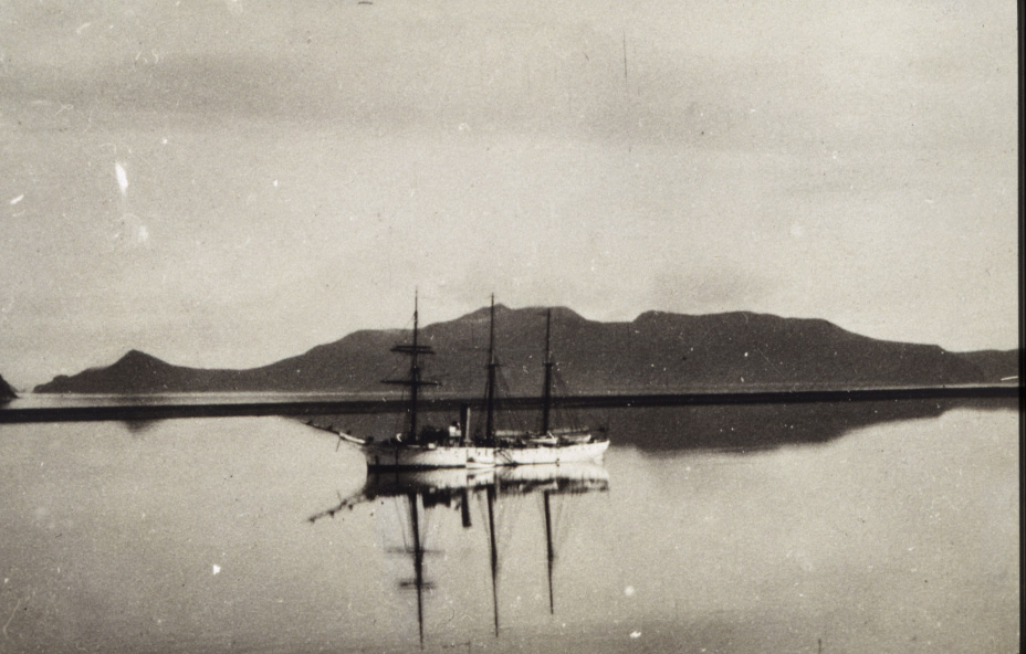 Coast and Geodetic Survey Steamer PATTERSON. In service 1884-1919. Pacific service. A still Alaska morning.