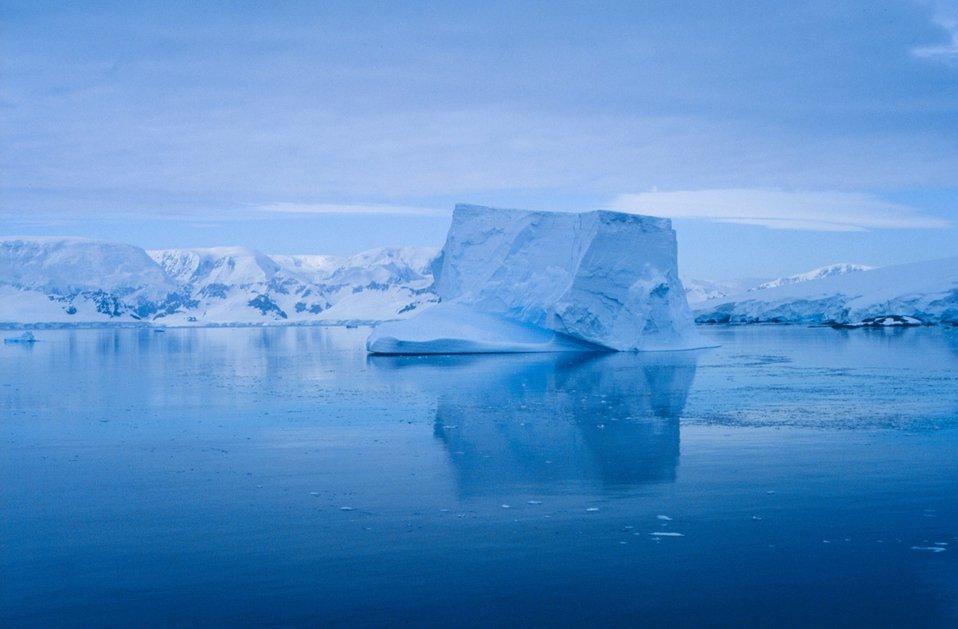 Serene iceberg drifting in the Neumayer Channel.
