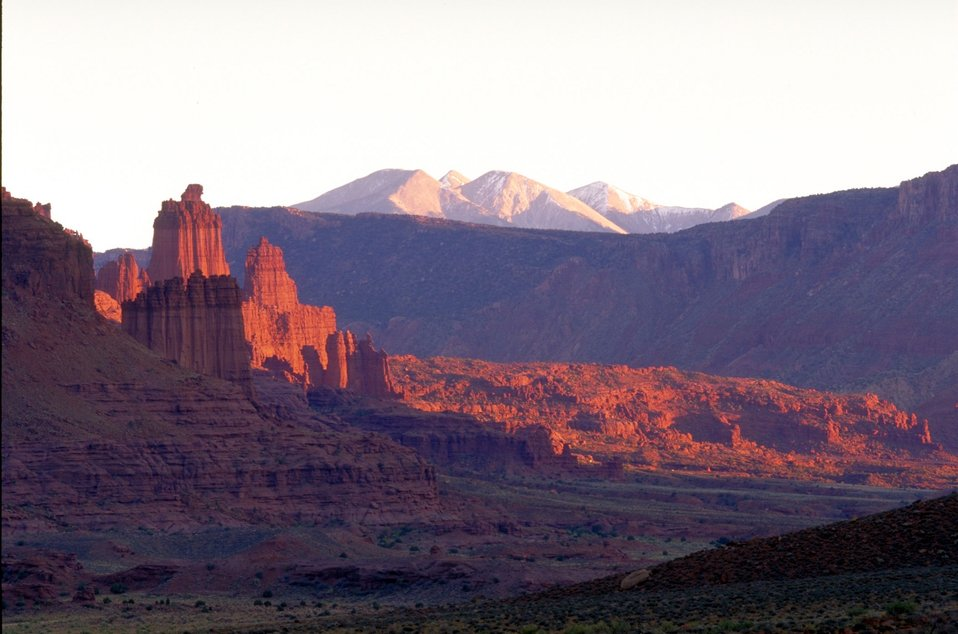 Fisher Towers along Highway 128, near Moab, Utah.