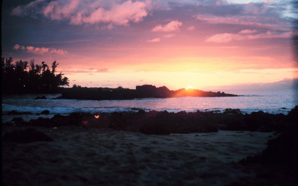 A Kona Coast sunset