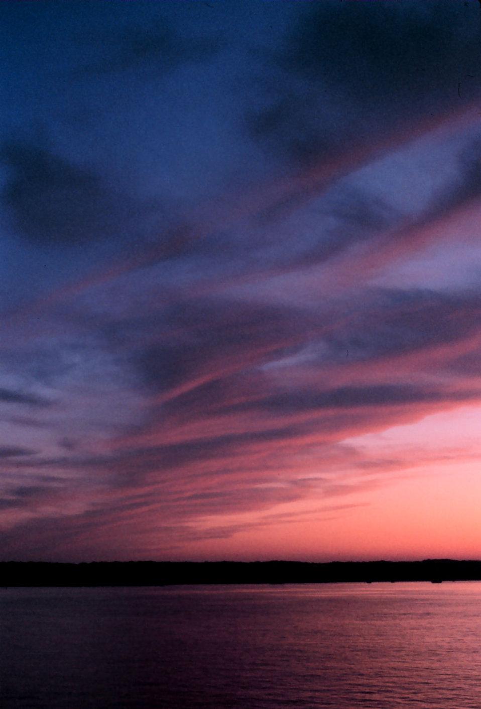 Sunset at sea south of Nantucket