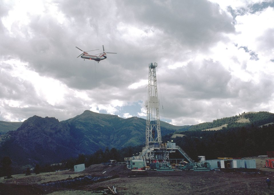 Oil deep well rig, Wyoming.