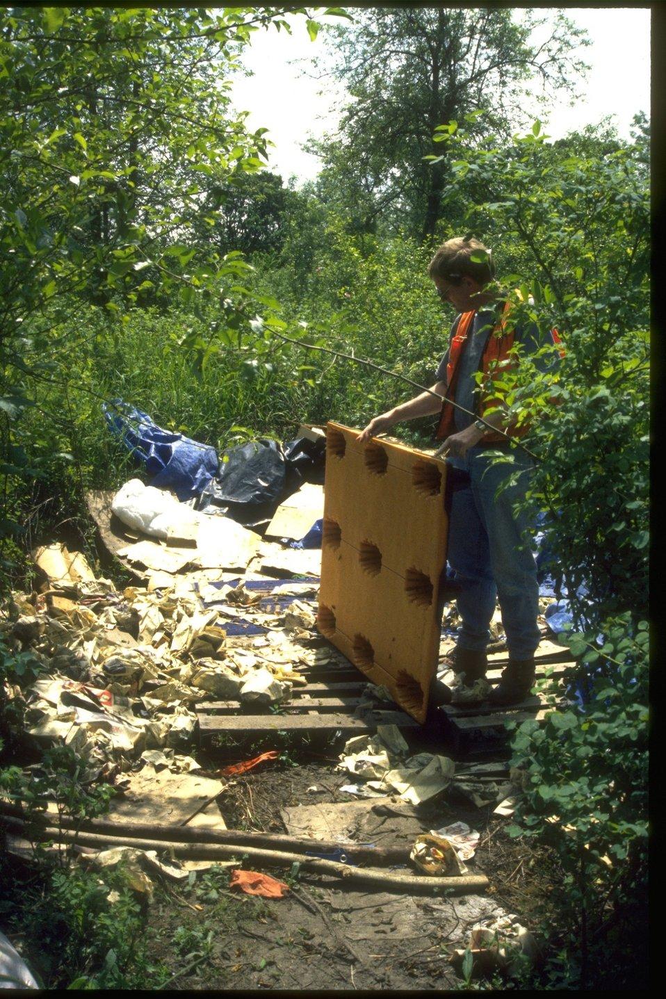 Trash dumping on public lands.