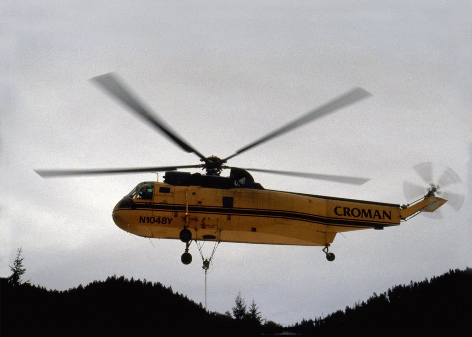 Croman Company (lumber) helicopter