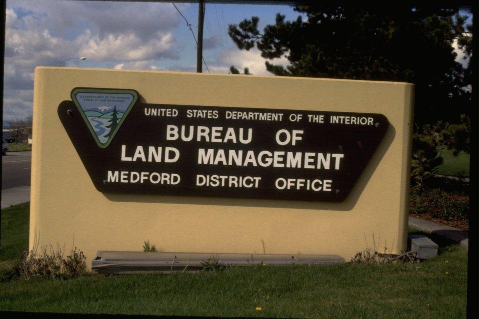 Medford District front sign.