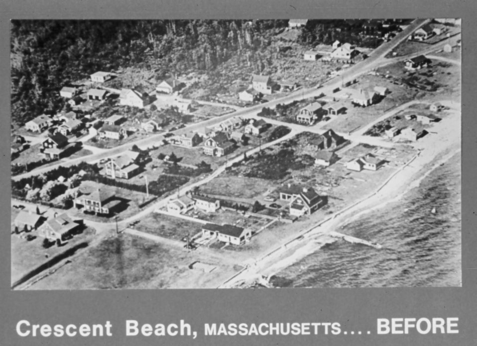 Beach-front community prior to Hurricane Carol