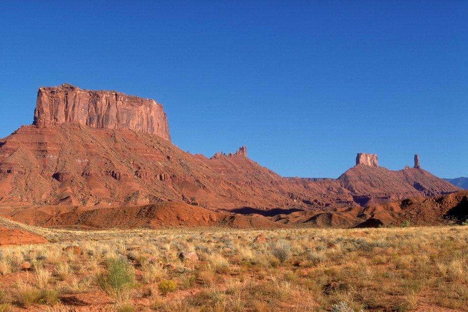 Buttes, Castle Valley area near Moab, Utah.