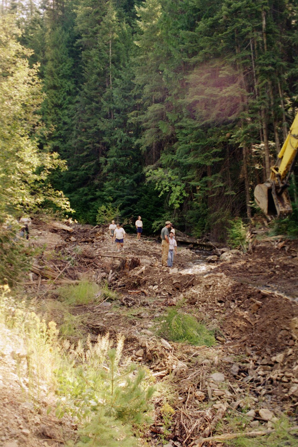 Riparian Area  Stream Restoration from mining damage  near Pinecreek  Couer D'Alene Field Office  UCSC  Upper Columbia Salmon Clearwater District