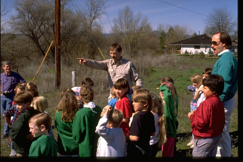 Jacksonville Elementary School students given an environmental education lesson.