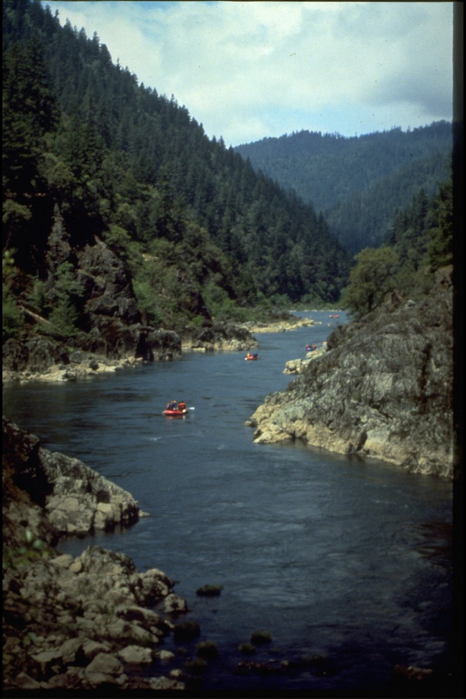 Rafting on wild section of the Rogue River.