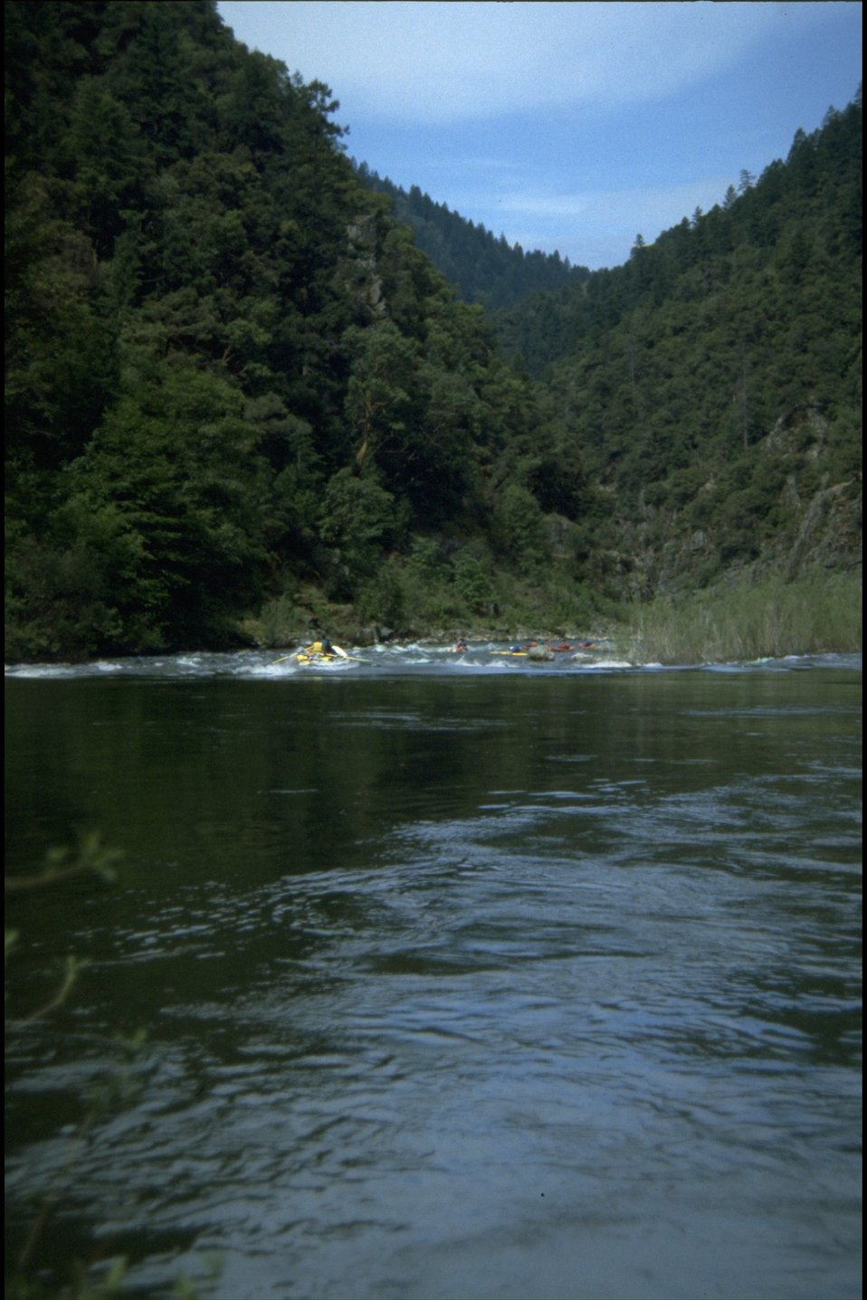 Floaters starting Grave Creek Rapids.