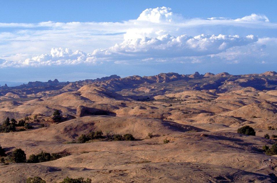 Moab Slickrock Bike Trail near Moab, Utah.