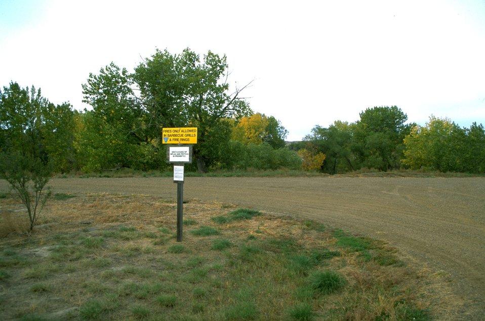 Signs inside the Matthews Recreation Site