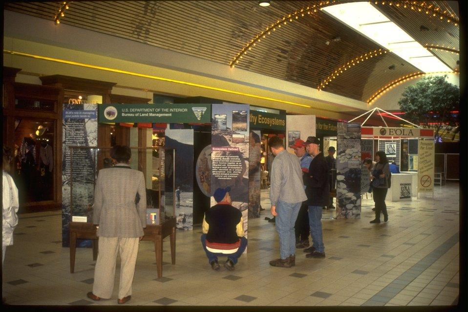 Exhibit at Gateway Mall.