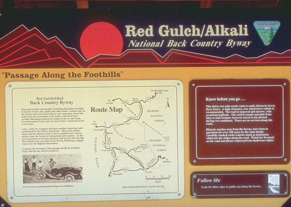 Red Gulch/Alkali Back Country Byway, Worland Field Office.