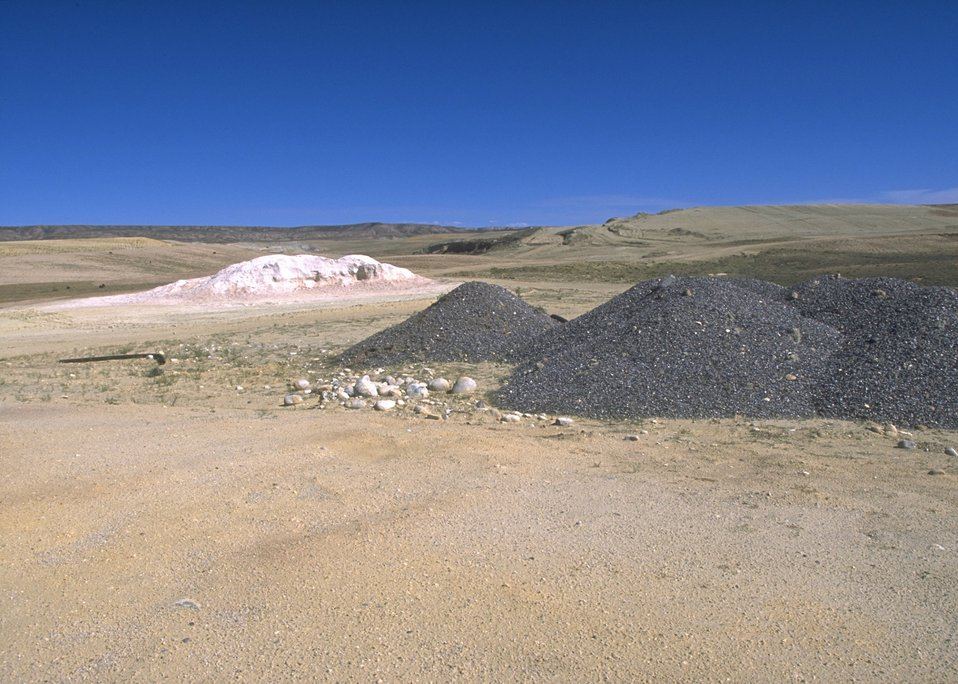 Materials used in covering abandoned mine lands at Gas Hill, Lander Field Office.
