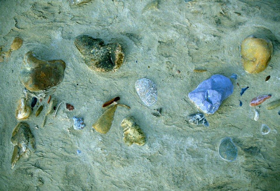 Yellowstone River rocks and debris