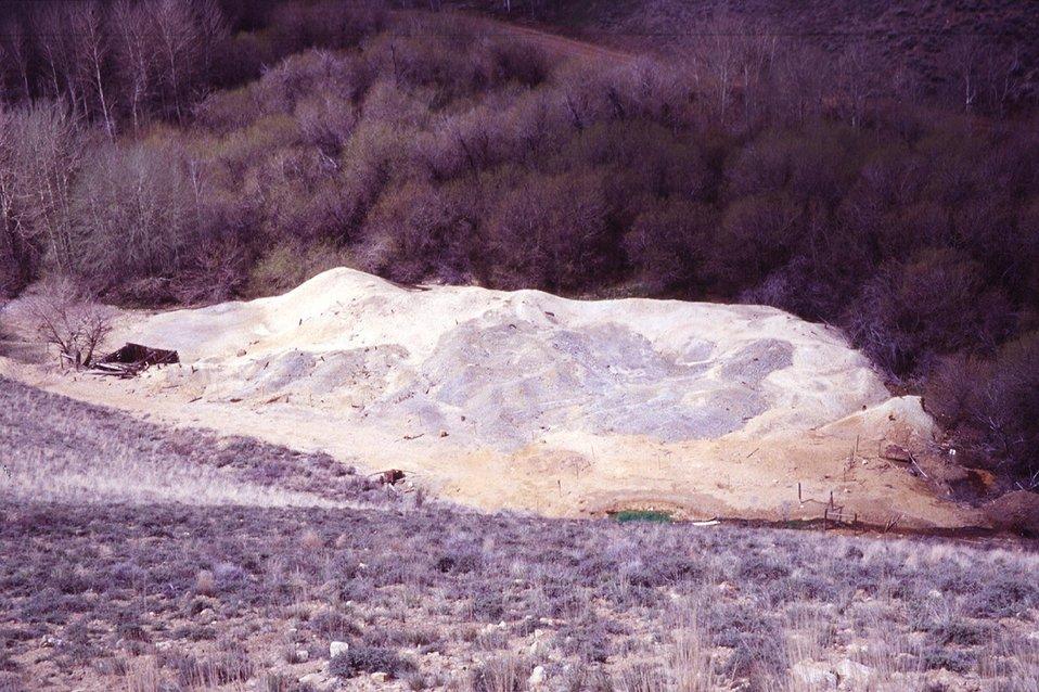 Waste Dump at Moran Tunnel  Champagne Creek  Southeast Idaho  USRD  Upper Snake River District