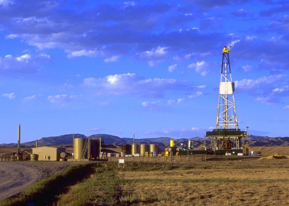 Burlington Northern deep well rig, Casper Field Office.
