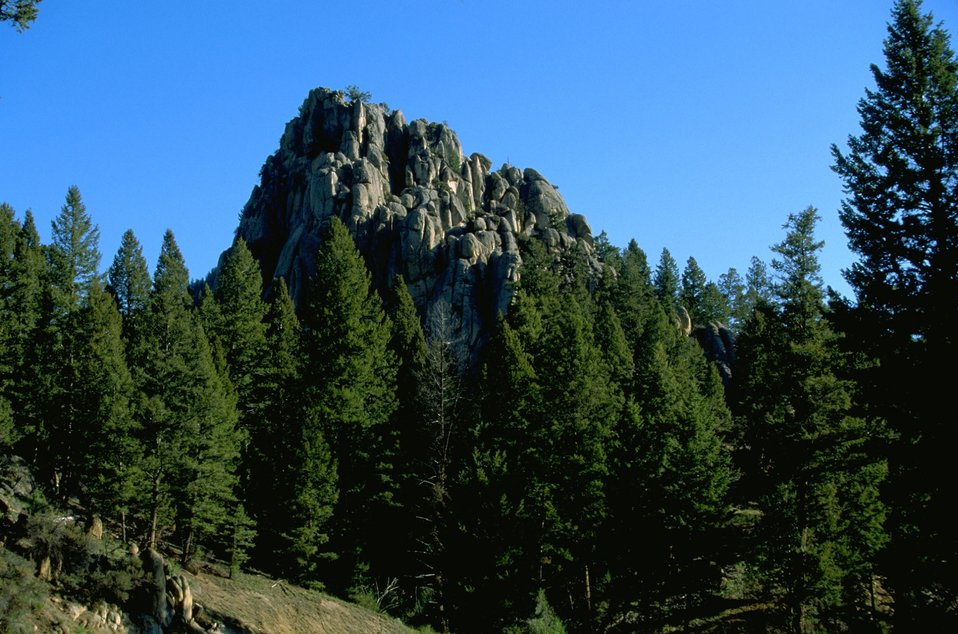 Scenic view of the rock formation