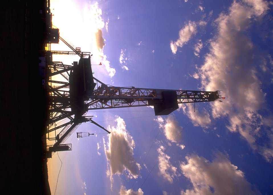 Burlington Northern deep well rig, Casper Field Office.