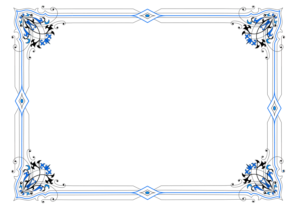 border - variation in blue
