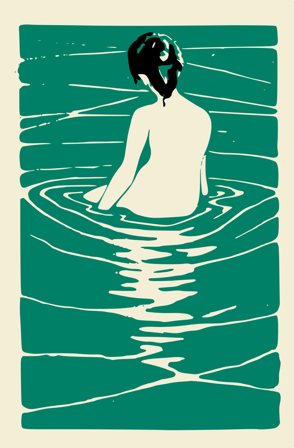 Lady in an Onsen