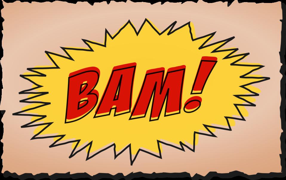 BAM comic book sound effect