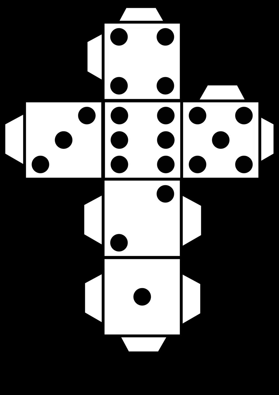 Printable die dice